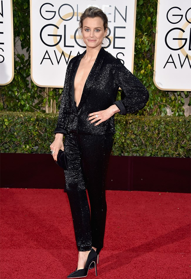 Taylor Schilling looks HAWWWWT in this black sequinned jumpsuit.