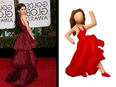 20 Golden Globe dresses that look like Emojis