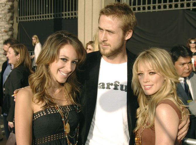 **3. 2005, with Haylie Duff and Ryan Gosling**    I was probably pretty excited to meet Ryan Gosling. Doesn't everyone still have a crush on him? It's lasted for a long time. My sister and I have some pretty Southern hair going on here, that's one thing I will say.