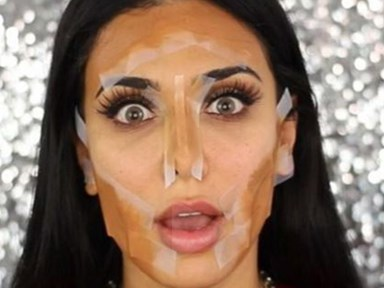 How to contour with sticky tape
