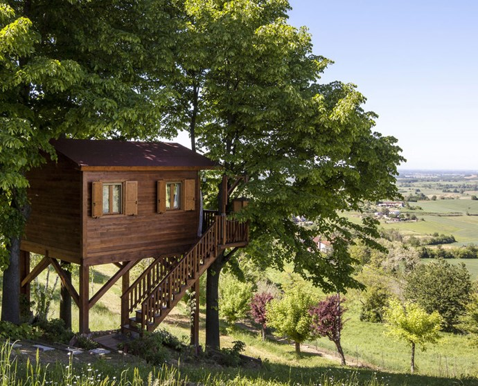 "AROMANTICA TREEHOUSE: ALESSANDRIA, ITALY Treehouses have proven to be the most desired rental of the year, and this romantic one in San Salvatore Monferrato has views of it's blooming surroundings that go on for acres. More information [here](https://www.airbnb.com/rooms/880308|target=""_blank"")."