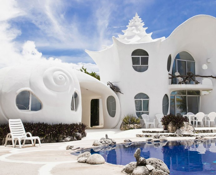 "CASA CARACOL: ISLA MUJERES, MEXICO The well-known seashell house has a private pool for the four guests it accommodates in its two bedrooms. More information [here](https://www.airbnb.com/rooms/530250|target=""_blank"")."