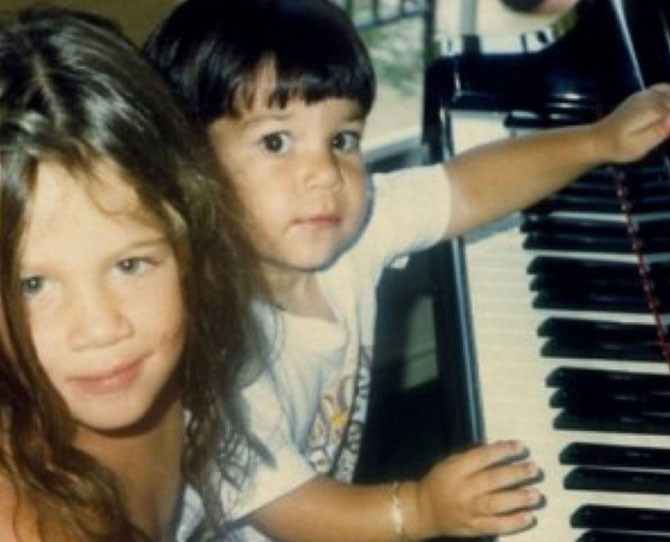 "Musical prodigies Khloé and Rob, [as shared by Kris](https://instagram.com/p/pwVU4Zm-Gi/|target=""_blank"")."