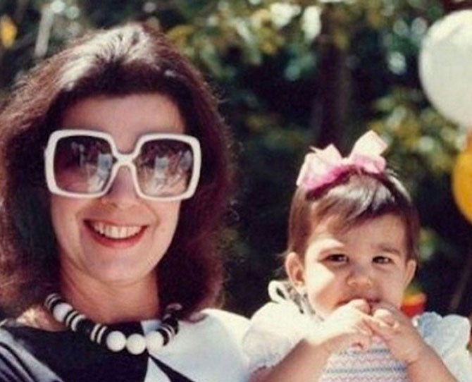 "Kourtney's first birthday (with grandma Mary Jo and her fabulous shades), [as shared by Kris](https://instagram.com/p/mL2-g2G-Go/|target=""_blank"")."