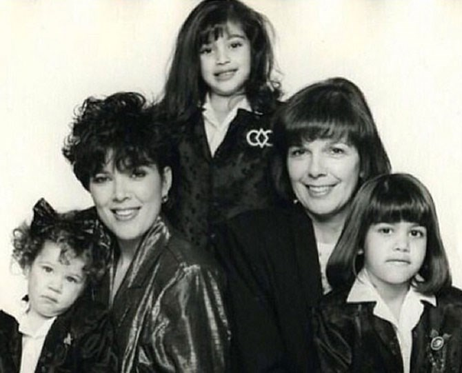 "Three generations of fabulous hair: L–R, that's Khloé, Kris, Kim, Mary Jo, and Kourtney, [as shared by Khloé](https://instagram.com/p/n3fcpFBRgP/|target=""_blank"")."