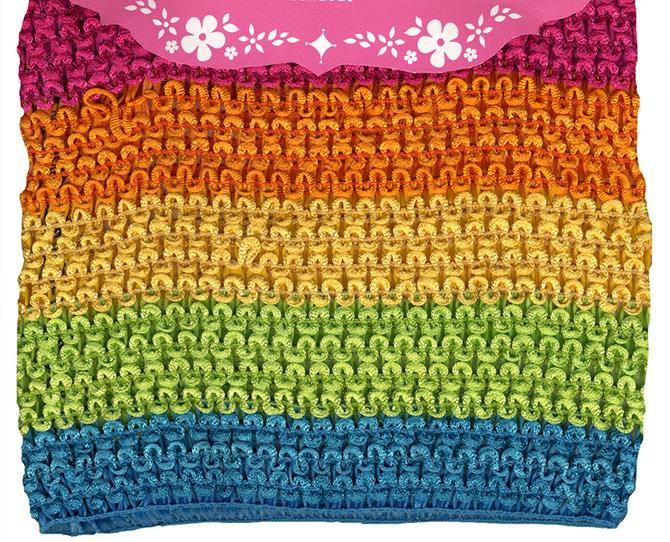 **29. Rainbow tube tops**  Or pretty much anything in this fabric was the bomb.