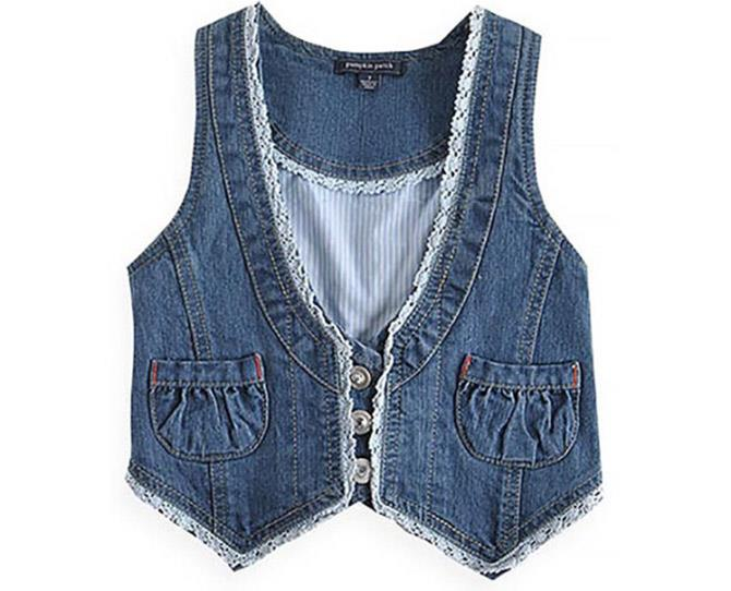 **Cropped Denim Vests** <br><br> Worn over a dress or matching denim and paired with a long, thin scarf, the denim vest worked wonders in transforming a boho look into an edgy, rock star ensemble. Finish the look with your favourite pair of round sunglasses, with tinted lenses, and you were ready to go.