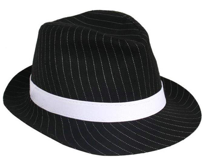 **A Striped Fedora** <br><br> A big thank you to Justin Timberlake for pioneering the iconic hat, throughout countless red carpet appearances and music videos. JT really taught us how to bring sexy back.
