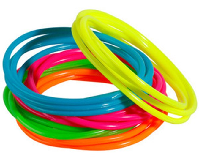 **37. Jelly bracelets **     AKA: the currency of your high school's economy.