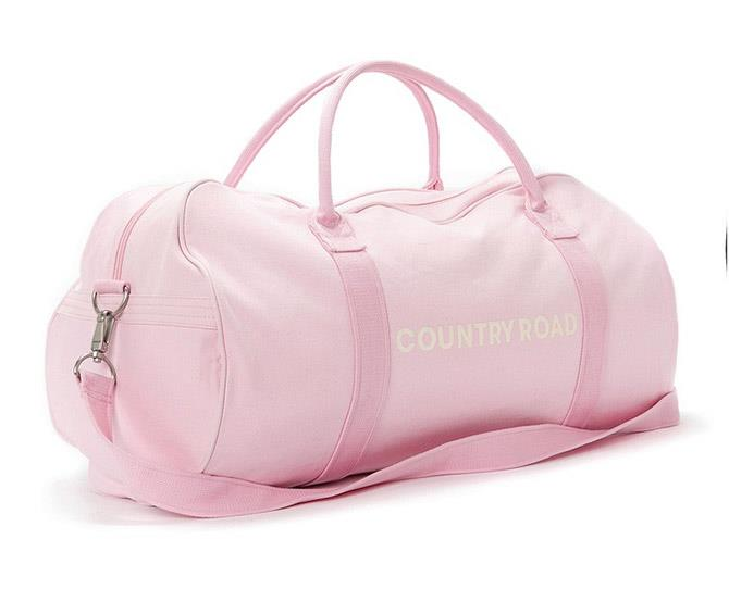 **22. Country Road barrel bag**  In almost EVERY colour/design (but your faves were baby pink and black). Still love 'em.