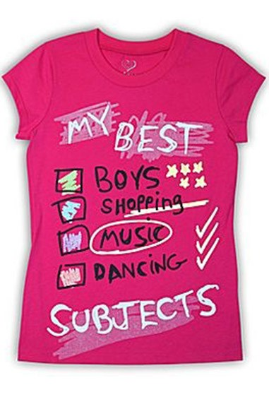 **32. Sassy-meets-obnoxiously-inappropriate slogan tees **    *Why* on earth did our parents agree to buy these for us?!