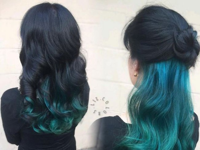 Secretly having rainbow hair is the latest beauty trend