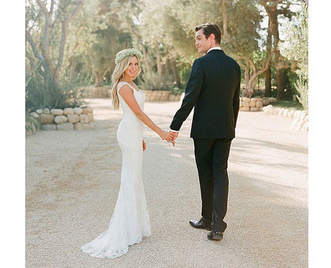 **421,000 likes** The High School Musical Star shared her wedding snap with the sweet caption 'Can't believe it's already been a week since I married my best friend. Photo by @corbingurkin @moniquelhuillier @johnvarvatos'. Also she's wearing a dreamy flower crown - no wonder this shot took out the number three spot.