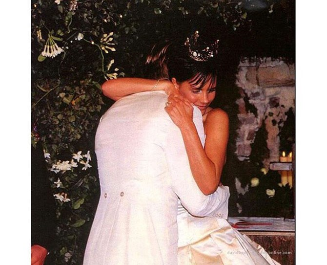 **138,000 likes** On their fifteenth anniversary, Posh posted an insta tribute to her Becks, reminding us all that love is real and that it's always cool to wear a crown on your big day. Her caption read '15 beautiful years. We feel so blessed and thank you all for your love and support over the years. Such a special day for us all x vb'.