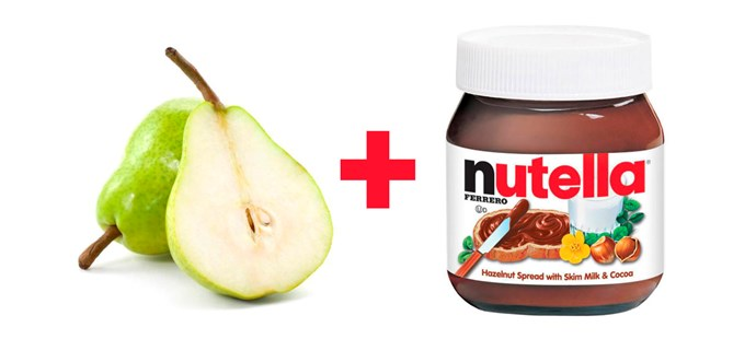 **7. Grilled pears with warm Nutella for sauce.**