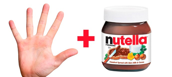 **11. Your fingers dipped in Nutella.**