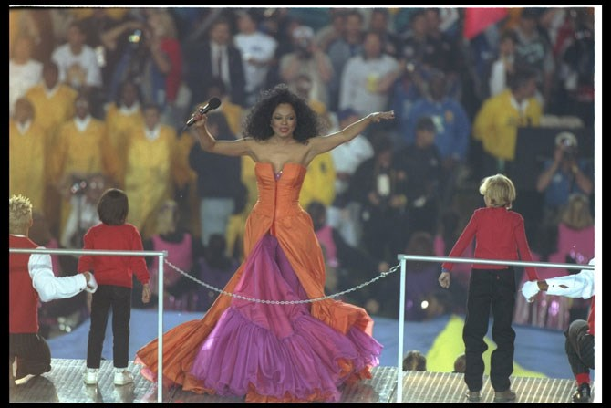 Diana Ross stole the show in 1996.