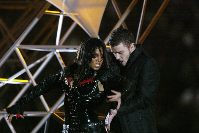 Janet Jackson and Justin Timberlake's duet in 2004 was one of the most talked-about moments of the night (thanks to Janet's wardrobe malfunction).