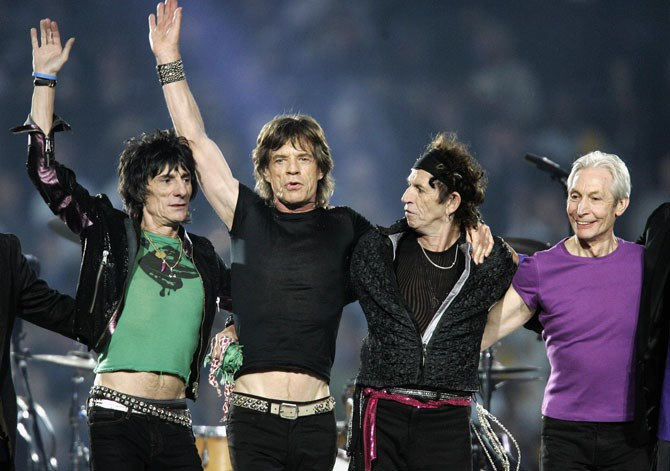 The Rolling Stones headlined the halftime show in 2006.