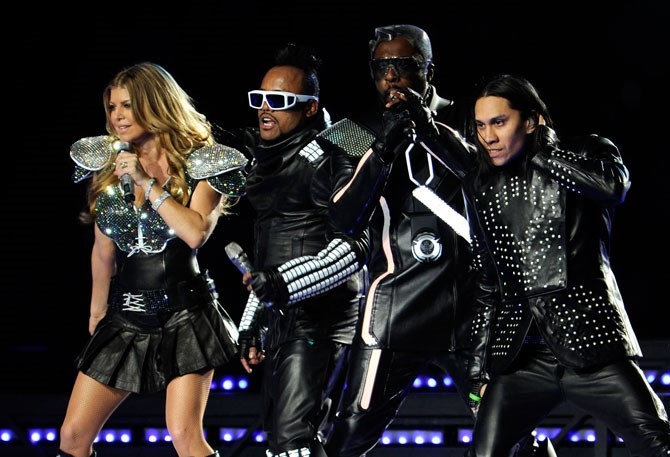 The Black Eyed Peas on stage in 2011.