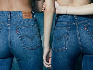 Say hello to the latest jeans trend: The Wedgie jeans