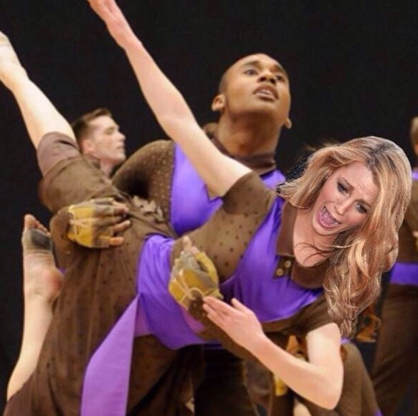 16. When she accurately captured those dance troop feels, albeit a Photoshop jobby.