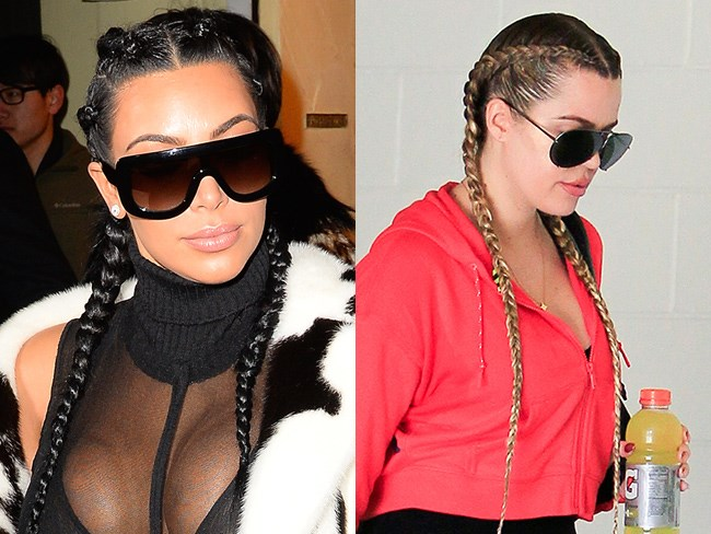 How to do the signature Kardashian inside-out braids