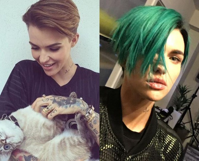 "We're all well aware [Ruby Rose loves a serious hair change](http://www.cosmopolitan.com.au/celebrity/fun-fearless-female-2015/news/galleries/2015/10/35-ruby-rose-best-hair-styles/|target=""_blank""), but her latest turquoise hue is probably our ultimate. Because, edgy mermaid vibes."