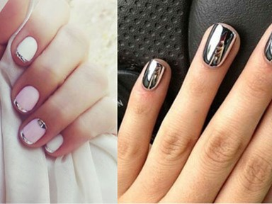 Mirror nails will have you staring at your mani all day