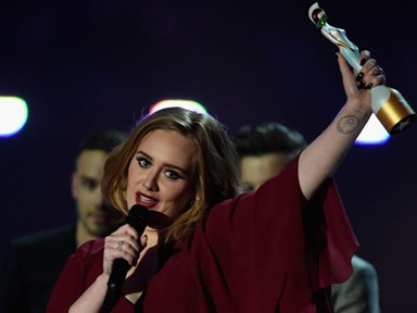 Adele shows her support for Kesha at the BRIT Awards