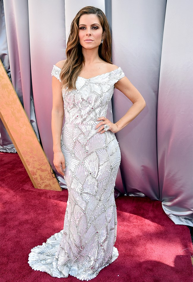 Maria Menounos has brought all the sparkle to town, but sadly, the dress is a little ill-fitting.