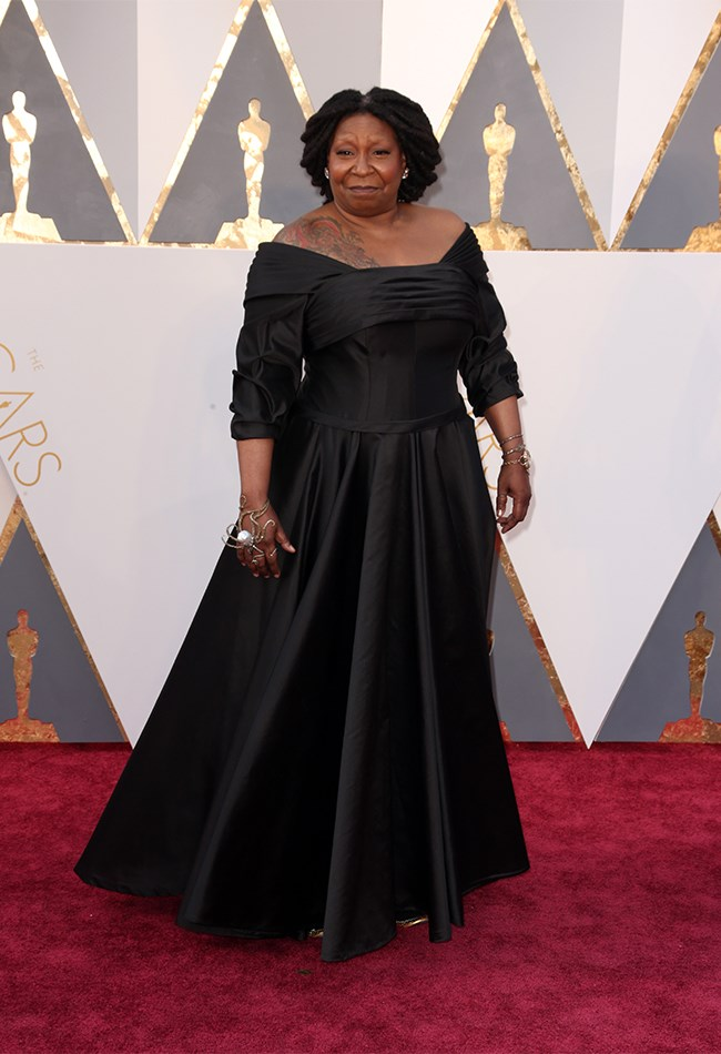 Whoopi Goldberg's dress is nice and stuff but we are more focussed on that epic jewellery which deserves a red carpet on it's own.