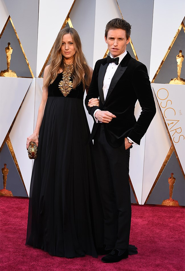 Eddie Redmayne and wife, Hannah Bagshaw, are couple goals in black, white and gold. Black seems to be a bit of a favourite option for the mum-to-be, who wore a similar look to the Golden Globes.
