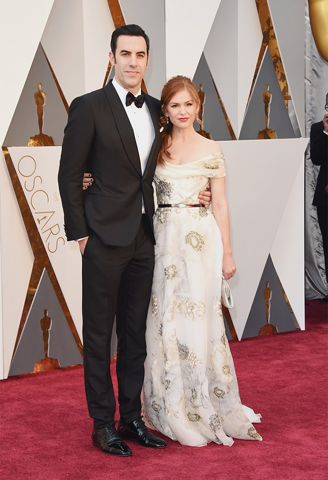 Sasha Baron Cohen and Isla Fisher are just impossible not to love, but we aren't so blown away by Isla's dress. Its... forgettable?