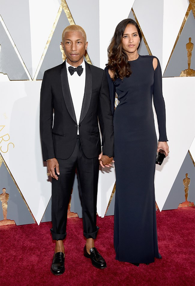 The coolest, most chill couple on the planet, Pharrel Williams and Helen Lasichanh, stay true to their personal style while turning it up a bit for the Oscars. LOVE THEM;