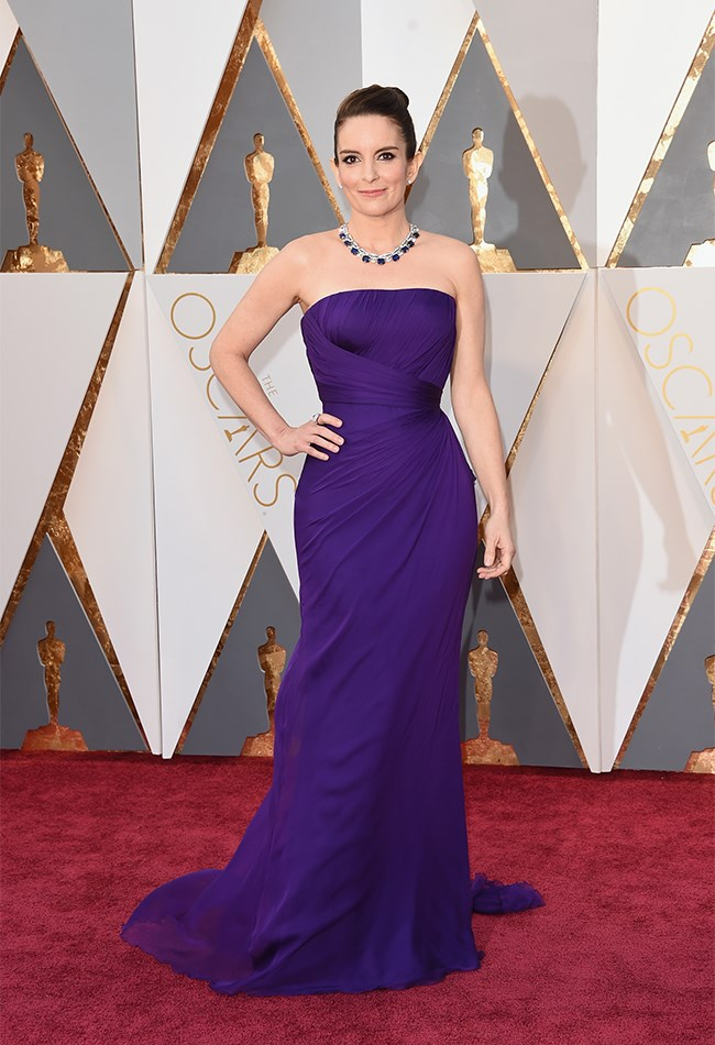 Tina Fey also opted for purple, which is actually a massively on-trend colour at the moment, but again, the whole thing just sends us to sleep, kinda.