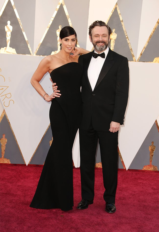 Sarah Silverman and Michael Sheen are going to look back at this photo in like 40 years time and think, damn, we are classic AF.