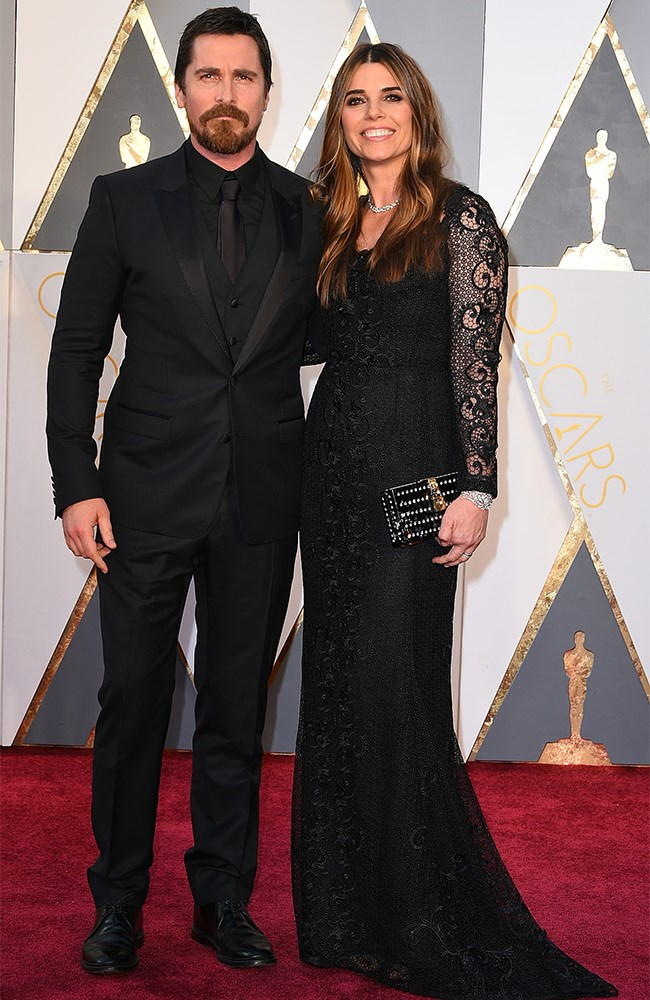 Christian Bale and his wife Sibi Blazic are both rocking the all-black-errthang thang.
