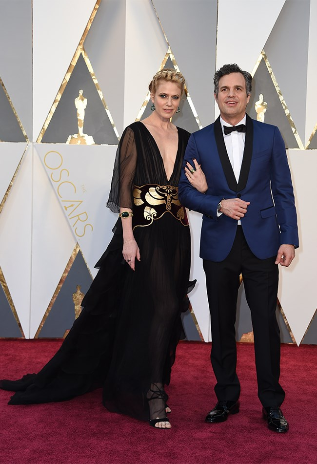 Mark Ruffalo looks super cute arm-in-arm with his wife, Sunrise Coigney.