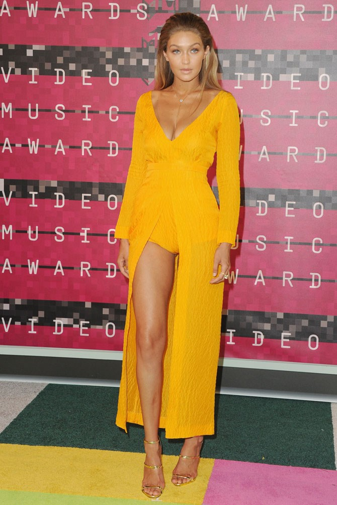And how could we forget the super daring, knicker-revealing, sunflower coloured ensemble she wore to the VMA's, single handedly stealing the show (Soz, Taylor)?