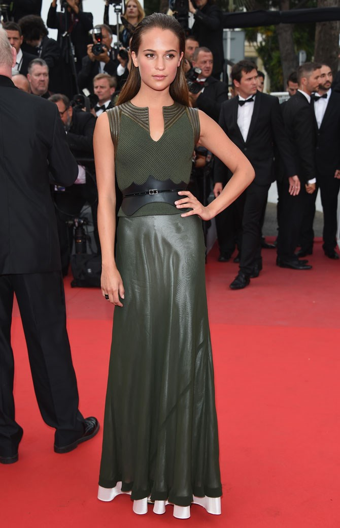 Another spectacular Cannes moment that had us Googling Alicia Vikander's name.