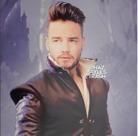 Liam Payne is the only 1D member that could fit the role of Prince Charming. Just look at that smoldering gaze. [[via @Hazstyletrash]](https://www.instagram.com/hazstylestrash/)