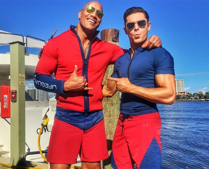 """5. The Rock included the word """"balls"""" in his caption for this picture, transporting our minds far, far away..."""