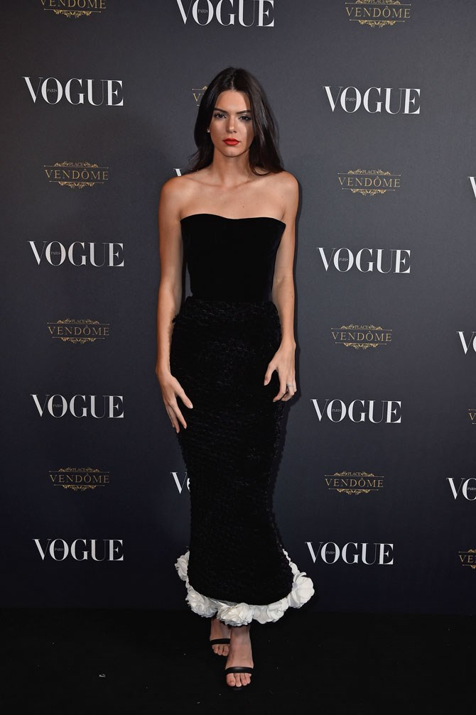 One of our FAVOURITE looks on her was this black and white velvet Ulyana Sergeenko dress to Vogue's 95th anniversary party last year.