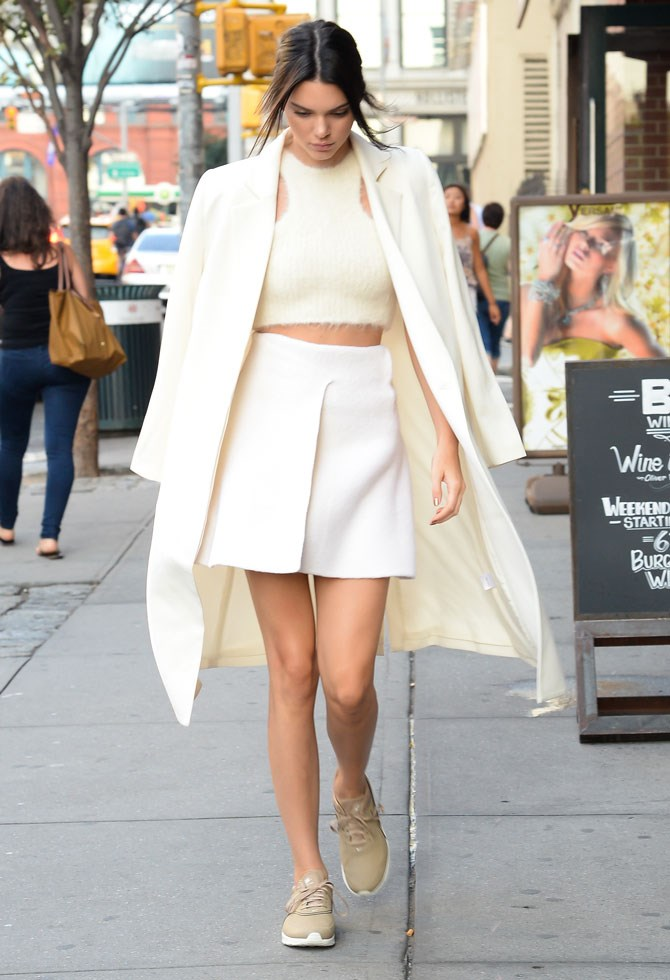 "Off to the U.S. Open last year, she rocked her tennis whites like a pro. And did you know [that coat is from an Aussie label](http://www.cosmopolitan.com.au/fashion/what-to-wear/2016/3/kendall-jenner-favourite-australian-brand/|target=""_blank"")?! 10 points for the love."