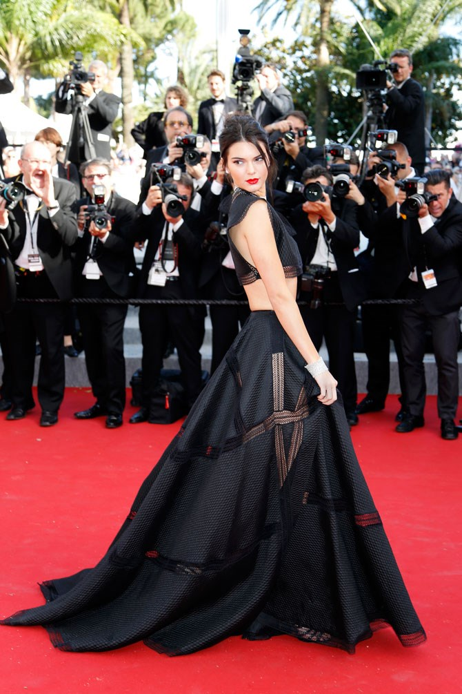 She basically won the entire Cannes Film Festival red carpet in this black two-piece gown. *#NeverForget.*