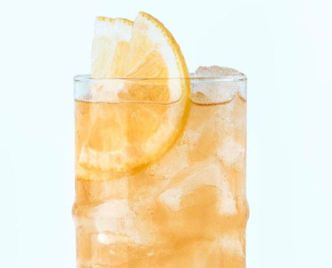 **5. Crabbie's Paddy** Pour 45mL **Irish whiskey** into a glass filled with plenty of ice. Add a bottle of **Crabbie's Original Alcoholic Ginger Beer**. Stir gently and enjoy.