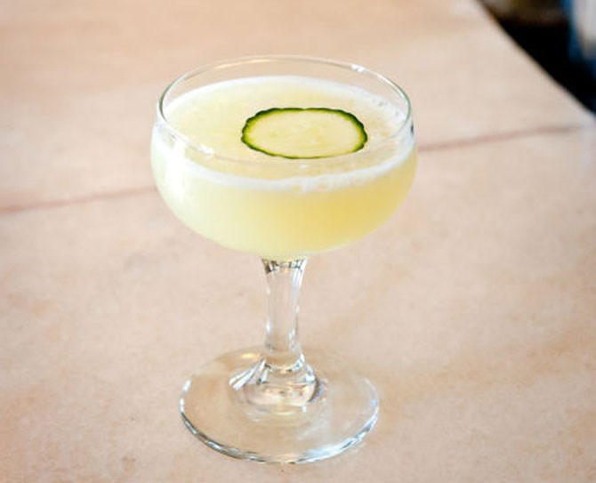 **7. The Green Beast** In a glass or a punch bowl over ice, build your drink using 1 part **Pernod Absinthe**, 1 part **simple syrup**, 1 part **fresh lime juice**, and 4 parts **water**. Garnish with a thinly sliced cucumber wheel.