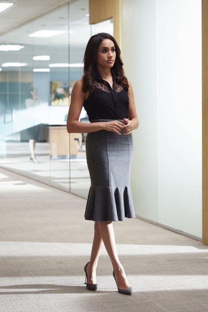 A fluted hemline is such a flattering shape for any body-type.