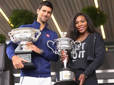 Serena Williams Grand Slams Novak Djokovic after dipshit 'men should get paid more' comments